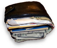 Stock Images of Wallet - Photo of an Overstuffed Wallet csp0390715 ...