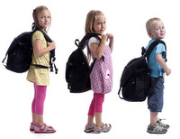 School children and backpacks, Las Vegas Chiropractor, Summerlin Chiropractor, Henderson Chiropractor, Gerber Chiropractic 702-878-0056 or 702-658-1420  Chiropractor 89146